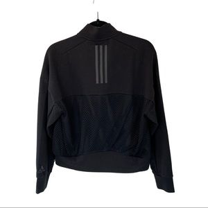 Adidas Women's Black Mesh Bomber Jacket